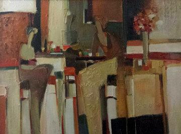 Untitled Painting 32x42 Original Painting - Yuri Tremler