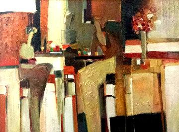 Untitled Painting 34x44 Huge Original Painting - Yuri Tremler