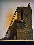 Bronze Poet #2 (Seated Man on Wall) Sculpture - Ernest Trova