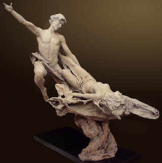 Ethereal Bronze Sculpture 2008 32 in Sculpture by Nguyen Tuan