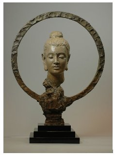Gautama Buddha Bronze Sculpture 2016 29 in Sculpture by Nguyen Tuan