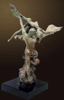 Heaven and Earth Bronze Sculpture AP 1998 25 in Sculpture - Nguyen Tuan