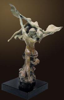 Heaven and Earth Bronze Sculpture AP 1998 25 in Sculpture - Nguyen Tuan