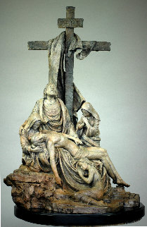 Pieta Bronze Sculpture 2016 30 in Sculpture - Nguyen Tuan