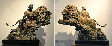 Self Creation Bronze Sculpture 1998 20x36 Sculpture - Nguyen Tuan