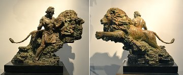 Self Creation Bronze Sculpture 1998 36 in Sculpture - Nguyen Tuan