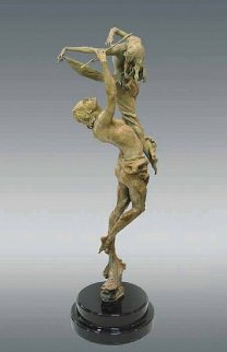 Romantic Harmony Bronze Sculpture 2001 36 in Sculpture - Nguyen Tuan