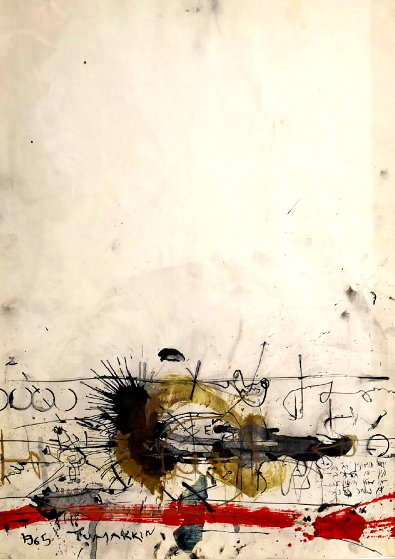 Untitled Mixed Media 1965 38x30 Works on Paper (not prints) by Igael Tumarkin