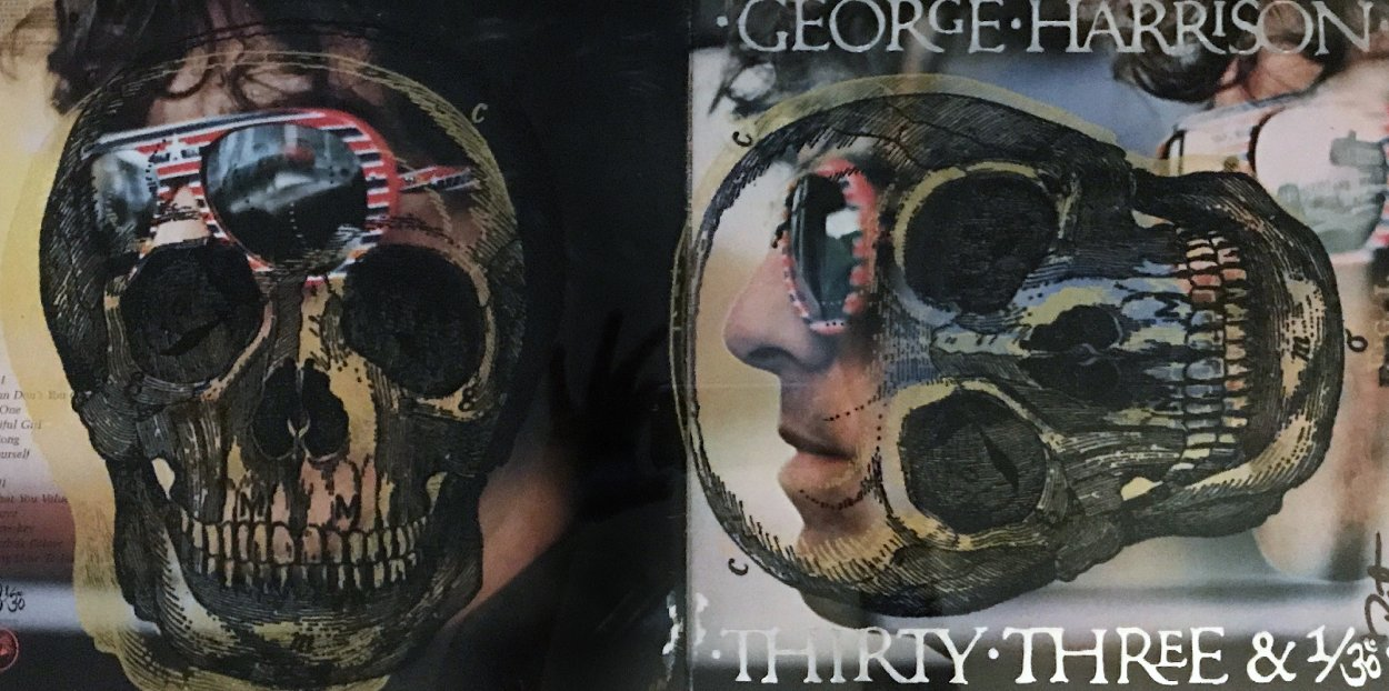 Skull Unique on Album Cover  2012  22x34 Original Painting by Peter Tunney