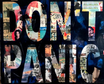Don't Panic 2013 48x60 Original Painting by Peter Tunney