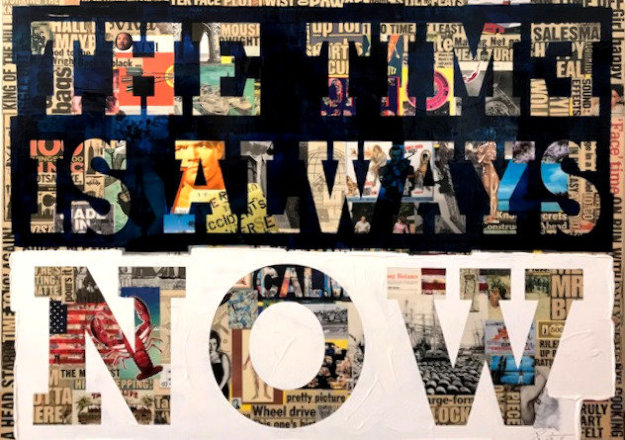 Time is Always Now 2013 48x60 by Peter Tunney