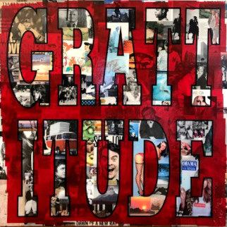 Grattitude 2013 48x48 Original Painting by Peter Tunney