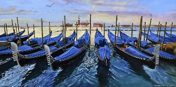 Gondolas At Dusk 2016 Limited Edition Print - Rosemary Vasquez Tuthill