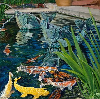 Fashion Island Koi Pond 2017 Limited Edition Print - Rosemary Vasquez Tuthill