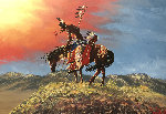 Untitled Painting 27x40 Original Painting - Loren Two-Bulls