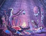 Untitled 1986 14x17 Original Painting - Loren Two-Bulls