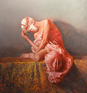 Sheherezad 40x45 Huge Original Painting - Angelo Vadala
