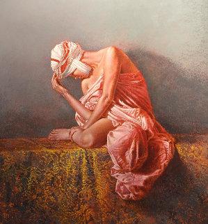 Sheherezad 40x45 Super Huge Original Painting - Angelo Vadala