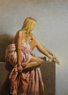 Musa Con Drappo 52x42 Original Painting - Angelo Vadala