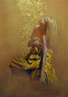 Dance Con Pioggia 2000 50x42 Original Painting - Angelo Vadala
