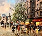 La Republique, Paris 1900 28x32 Original Painting - Paul Valere