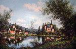 Chateau De Morleguy 1987 40x60 Original Painting - Paul Valere