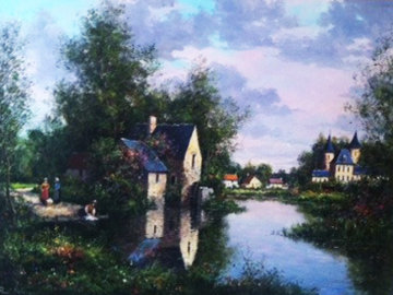Chateau De Soribise 1987 40x40 Original Painting - Paul Valere