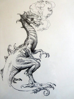 Dragon Drawing 1984 Drawing - Boris Vallejo
