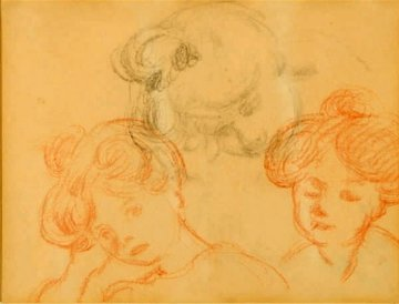 Study of the Head of a Woman Drawing Drawing - Louis Valtat
