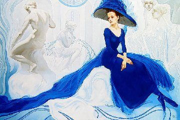 Rhapsody in Blue 2002 34x50 Original Painting - Svetlana Valuyeva
