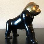 Gorilla Classis Bronze Sculpture  5 in 2003  Sculpture - Loet Vanderveen