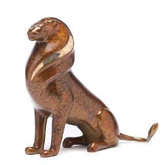 Serengeti Lion Bronze Scupture 13 in Sculpture - Loet Vanderveen