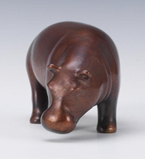 Hippopotamus  Ceramic  Sculpture 14 in Sculpture by Loet Vanderveen