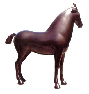 Horse Bronze Sculpture 13 in Sculpture - Loet Vanderveen
