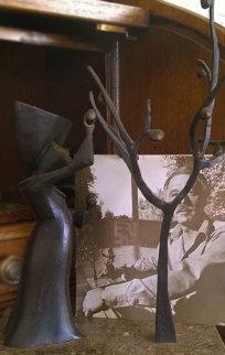 Reaping Bronze Sculpture 1974 (Early) 10 in  Sculpture by Loet Vanderveen