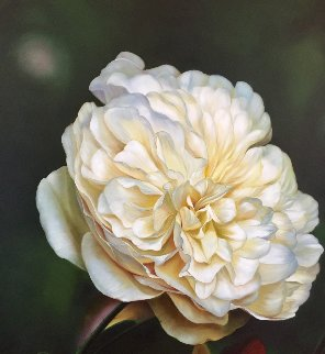 A Rose For All Ages 2005 62x50 Super Huge Original Painting - Vangelis Andriotakis