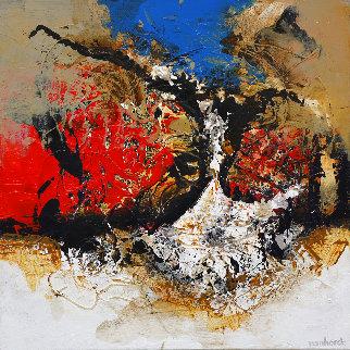 Abstract 01 2018 32x32  Original Painting - Hans Van Horck