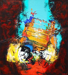 Nocturne III 2017 39x35 Original Painting - Hans Van Horck