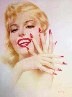 Marilyn Monroe, Fingernails and Nita Naldi, 2 Prints 1940 HS Limited Edition Print - Alberto Vargas