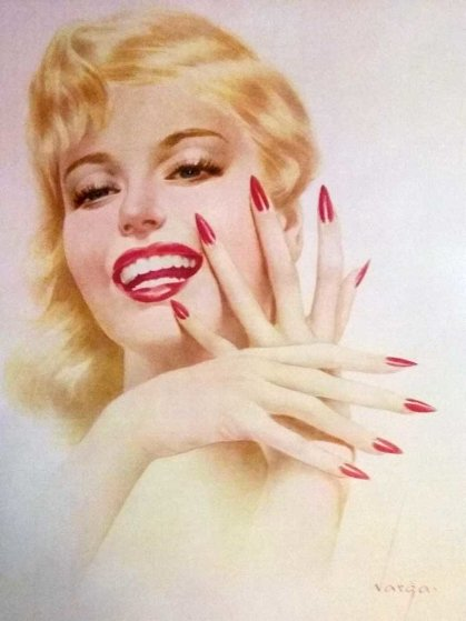 Marilyn Monroe, Fingernails and Nita Naldi, 2 Prints 1940 Limited Edition Print by Alberto Vargas