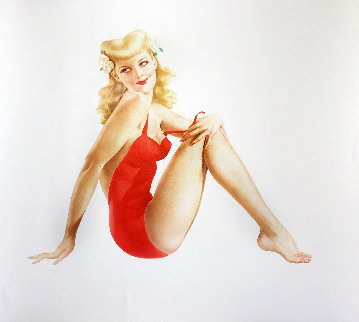 Sitting Pretty   Limited Edition Print - Alberto Vargas