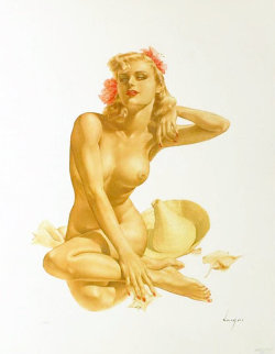 Sea Shells Legacy Nude #12 1988 Limited Edition Print by Alberto Vargas