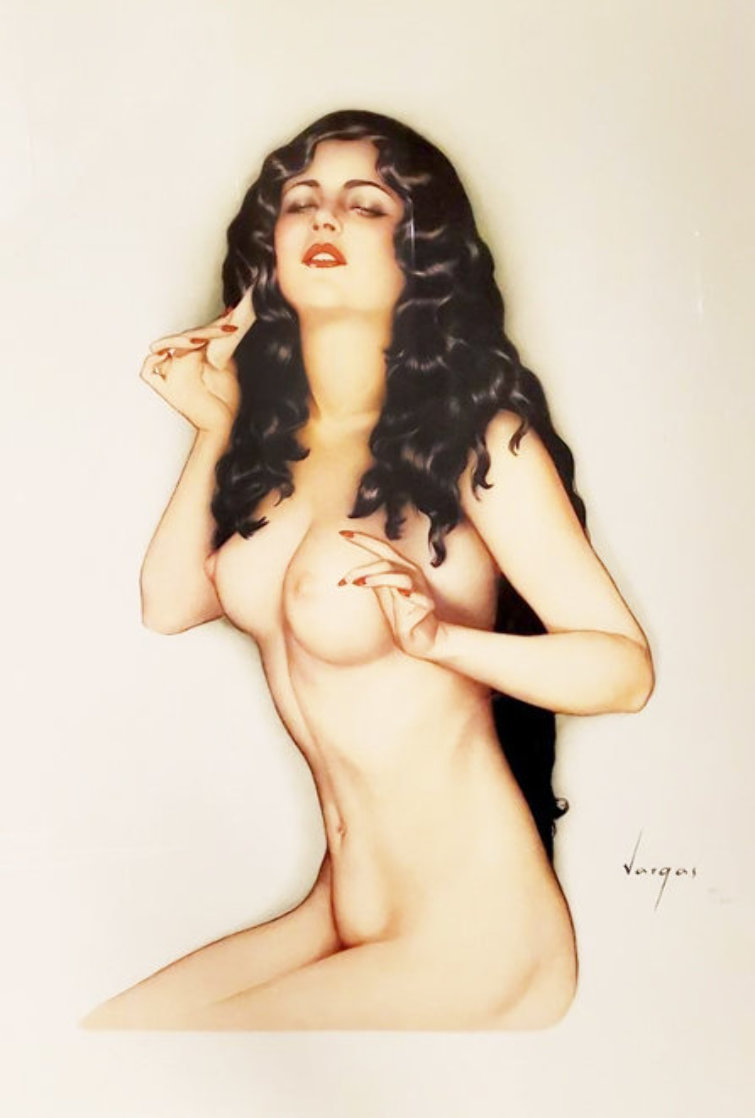 Broadway Showgirl 1986 44x36 Huge  Limited Edition Print by Alberto Vargas