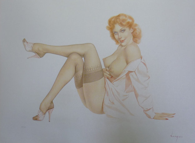 Silk Stockings #11 Deluxe Edition HS Limited Edition Print by Alberto Vargas