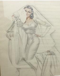 Bridal Vision, Study Watercolor 1948 Watercolor - Alberto Vargas