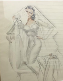 Bridal Vision, Study Watercolor 1948 25x18 Watercolor - Alberto Vargas
