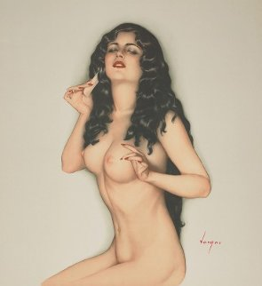 Broadway Showgirl 1986 HS  Limited Edition Print - Alberto Vargas