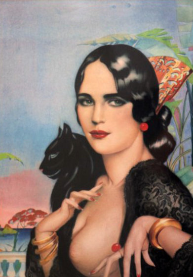 Spanish Lace  Limited Edition Print by Alberto Vargas