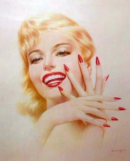 Marylin Monroe HS  Limited Edition Print by Alberto Vargas