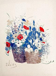 Double Baskets/Mixed Bouquet 1980 Limited Edition Print - Eda Varricchio